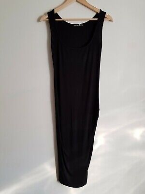 BooHoo maternity Size 8 sleeveless bodycon midi dress - Black