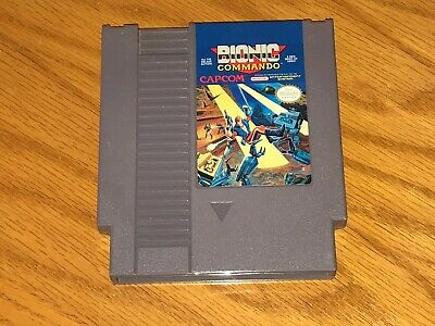 Bionic Commando Nintendo Nes Cleaned & Tested Authentic