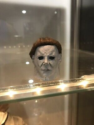 Painted Halloween Michael Myers head for 12 inch body rooted hair new