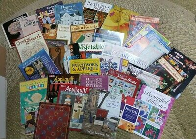 Huge lot 20+ Quilt Applique Appliquilt Patchwork Books Magazines