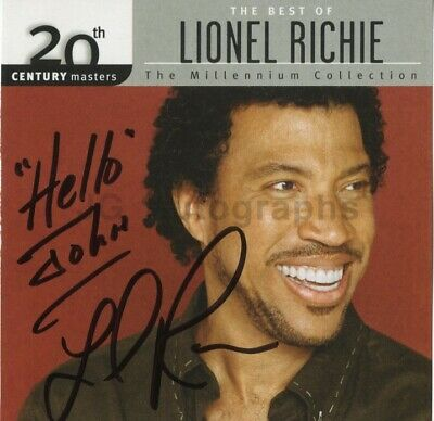 Lionel Richie - Ballad Singer, Songwriter: The Commodores - Signed CD Cover