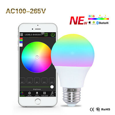 E27 Wifi Smart LED Light Bulb Remote Voice Control rgbw Lamp Alexa Night Light
