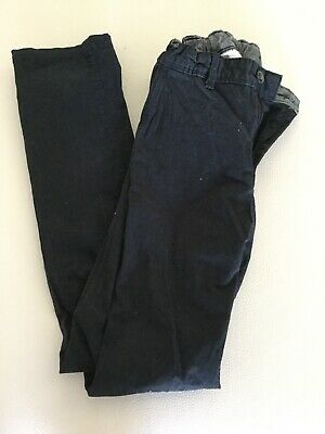 Boys Black Cargo Pants Adjustable Waist EUC Size 12