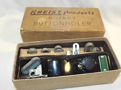Vintage Greist Rotary ButtonHoler for Sewing Machine in Original Box