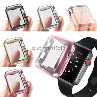 For Apple Watch Series 5 3 2 42mm 44mm Full Body Cover Case W/ Screen Protector