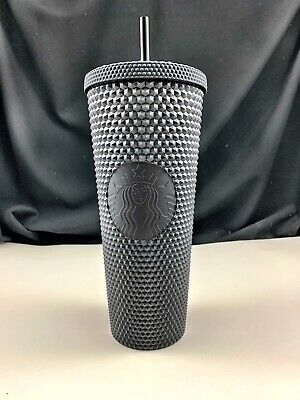Starbucks Matte Black Studded Tumbler Cup Venti 24oz Fall