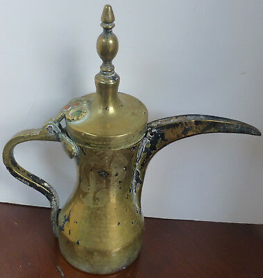 Antique very old and well used Islamic Dallah Coffee Pot
