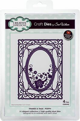 Creative Expressions Craft Dies By Sue Wilson-Frames & Tags-Poppy -CED4342