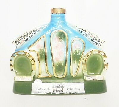 1974 Jim Beam Decanter 100th Kentucky Derby Churchill Downs Bourbon Whiskey