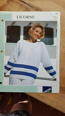 Ladies Shadow Pullover Sweater Knitting Pattern Plymouth 1229 S-XL Pattern Only