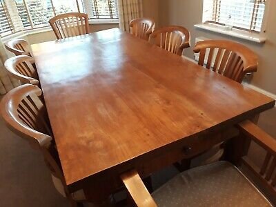 Teak Dining farmhouse Table And Chairs 8 Seater