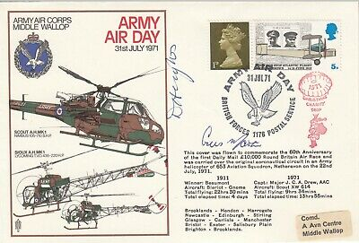 Army Air Day  Middle Wallop Signed 2 Christmas Charity Father Christmas Drop