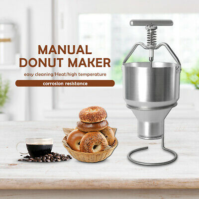 2.5L Manual Donut Maker Stainless Steel Adjustable Size Sack Hopper Dispenser