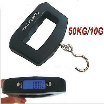 50KG PORTABLE TRAVEL SUITCASE BAGGAGE LUGGAGE WEIGHING SCALE HOOK WEIGHT New ^