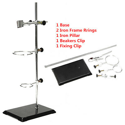 50CM Laboratory Chemistry Iron Stand Support Pole Flask Condenser Lab Clamp Clip