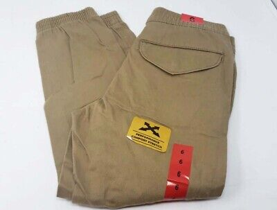 Lee Boys Jeans Relaxed Fit Jogger Pants, Khaki Brown, Size 6 NWOT