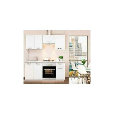 Cocina completa 180 cm color blanco KIT-KIT