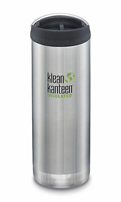 Klean Kanteen TKWide 473ml Insulated Brushed Stainless Café Cap - Hot & Cold
