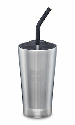 Klean Kanteen - 473ml Vaccum Insulated Tumbler with Straw & Lid Brush Stainless