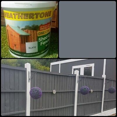 10 Litre Weathertone Slate Grey Shed And Fence Paint 🎨 **Final Stock**