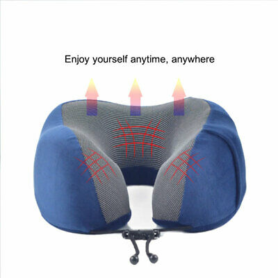 Inflatable Travel Pillow Head Neck Rest Cushion With Cover Sleep Mask Kit