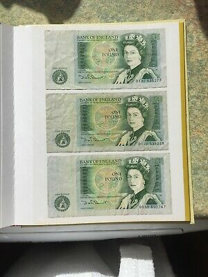 D.H.F. Somerset Bank of England One Pound £1 Bank Notes - Circulated
