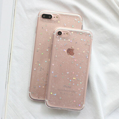 For iPhone XR/Xs/5s/6s/7/8 plus Bling Glitter Sparkly Soft Gel Phone Cover Case