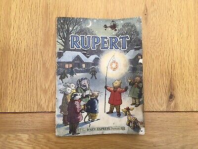 Vintage Original 1949 Rupert Bear Annual, Price Unclipped 4/-