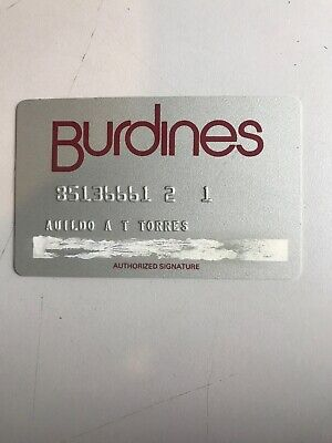 VINTAGE BURDINES CREDIT CHARGE CARD (a1)