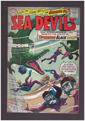 Sea Devils # 25  Operation Black Gold !  grade 8.5 scarce book !