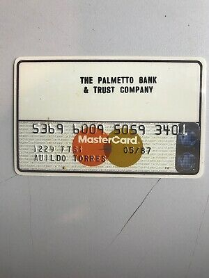 VINTAGE THE PALMETTO BANK & TRUST CO. MASTERCARD, HARD PLASTIC, 1987  (a1)