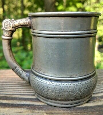Antique MSC(Maltby, Stevens & Curtiss Co.) Silver Soldered #218 Cup Mug 3.25""