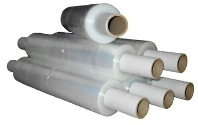 6 x NEW Rolls Of EXTRA LENGTH 600 METRE ROLLS Clear PRE-STRETCH Pallet Wrap