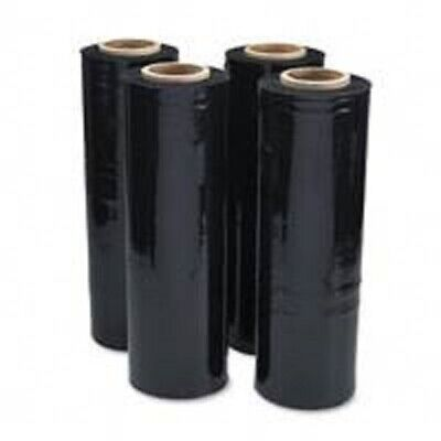 6 Brand New Rolls Ext.core Black Pallet Stretch Shrink Wrap 250M, High Quality