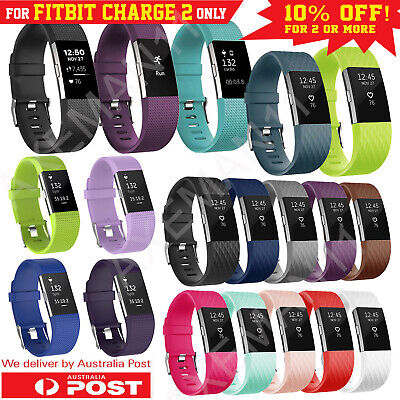 Fitbit Charge 2 Band Small Large Replacement Silicone Wristband Watch Strap AUS