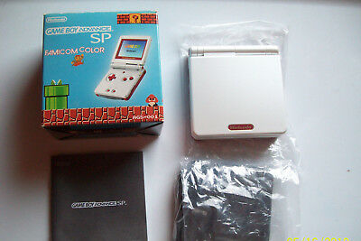 Nintendo GameBoy Advance SP Famicom Limited Edition Handheld Console  COMPLETE