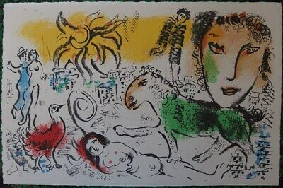 Marc CHAGALL : Le cheval vert - LITHOGRAPHIE MOURLOT 699 # 1973