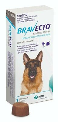 Bravecto Flea And Tick Chew For Large Dogs 20-40kg -  FREE SHIPPING + FREE GIFT