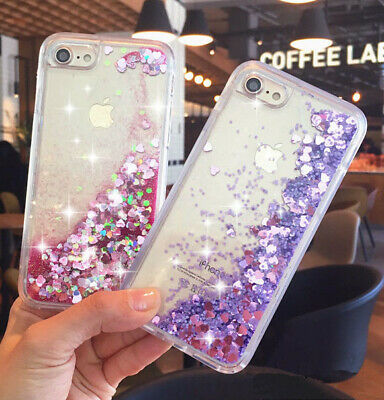 Cute Liquid Glitter Lady Quicksand Phone Case Cover For iPhone 6s X 7 Plus 8+ SE
