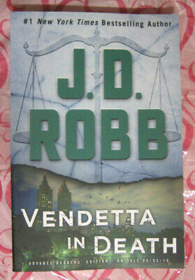 Vendetta in Death by J.D. Robb (Connections*In Death #49) 2019 ARC Paperback