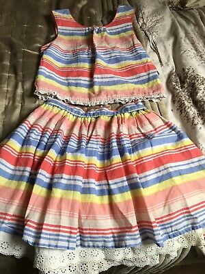 Girls Multicoloured Outfit Skirt And Top Size 9-10yrs By George