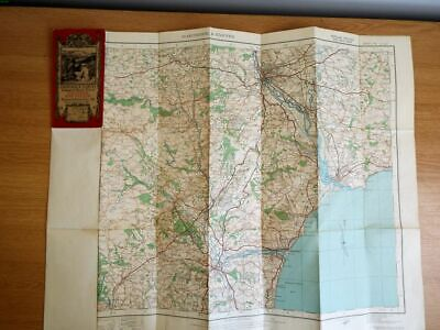 1919 Old OS Ordnance Survey One-Inch Popular Edition Map 138 Dartmoor & Exeter