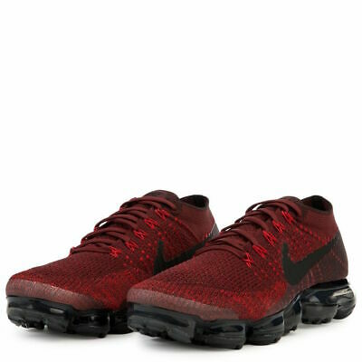 Nike Mens Nike Air Vapormax flyknit Fabric Closed Toe Slip On, Red, Size 14.0