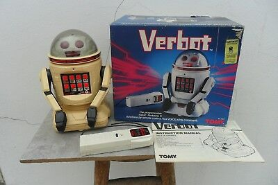 Rare Verbot Robot Remote Control Battery Operated. Made in Japan 1970's Box