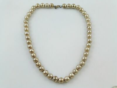 """Tiffany & Co 925 Sterling Silver Ball Bead Link Chain Necklace 17.75"""""""