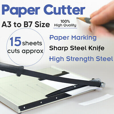 Portable A3 To B7 Paper Photo Cutter Guillotine Page Trimmer Knife 15 Sheets NEW