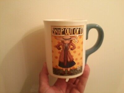 """Snap Out Of It by Mary Englebreit... """"Large Mug""""... Blue Handle... VGC"""