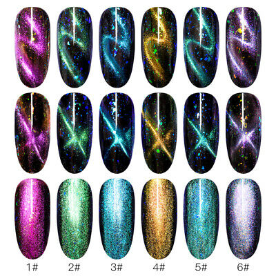 RBAN NAIL 7ml Chameleon Soak Off UV Gel Polish Nail Art 3D Cat Eye Magnet Gel