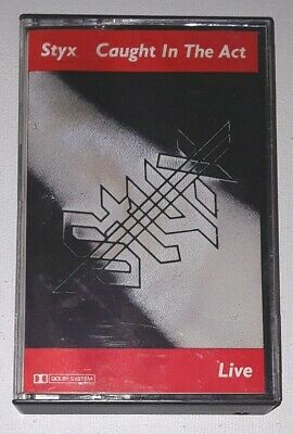 STYX Caught In The Act LIVE Cassette 1983 A&M