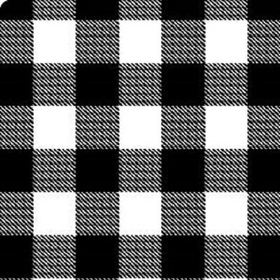 "BLACK WHITE Buffalo Plaid Check Tissue Paper 10 Large Sheets 20"" by 26"""